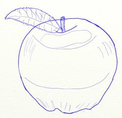 Как нарисовать яблоко, шаг 5