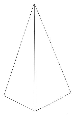 Рисунок новогодней елки, шаг 1