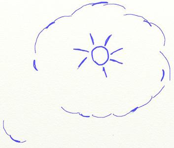 Рисунок мандарина, шаг 2
