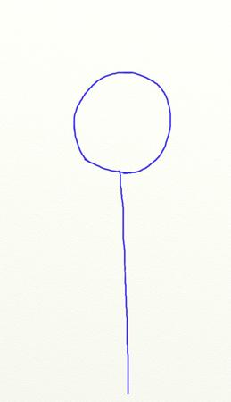 Как нарисовать подсолнух, шаг 1