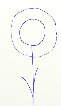 Как нарисовать подсолнух, шаг 2
