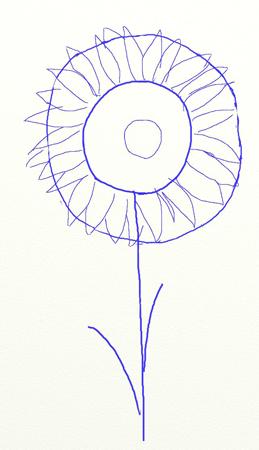 Как нарисовать подсолнух, шаг 3