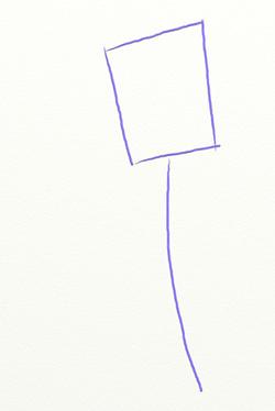 Как нарисовать тюльпан, шаг 1