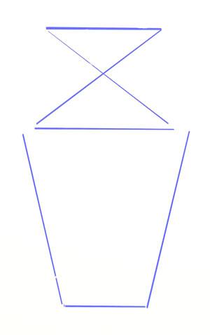 Как нарисовать вазу, шаг 2