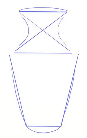 Как нарисовать вазу, шаг 3