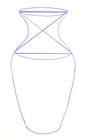 Как нарисовать вазу, шаг 4