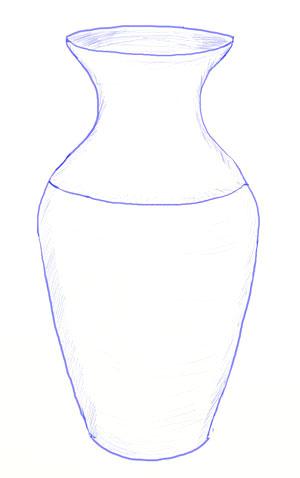 Как нарисовать вазу, шаг 5