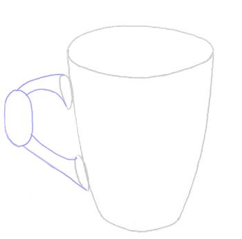 Как нарисовать Чашку, Кружку, шаг 3
