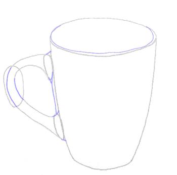 Как нарисовать Чашку, Кружку, шаг 4