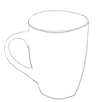 Как нарисовать Чашку, Кружку, шаг 5