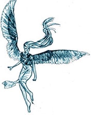 Рисунок ангела поэтапно карандашом
