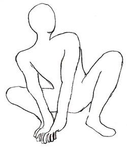 Как нарисовать Человека-Паука, шаг 3