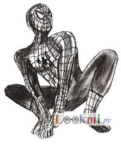 Как нарисовать Человека-Паука, шаг 6