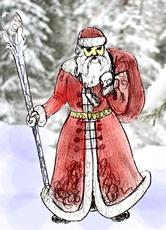 Рисуем Дед Мороза поэтапно