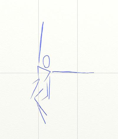 Как нарисовать ангела, шаг 1