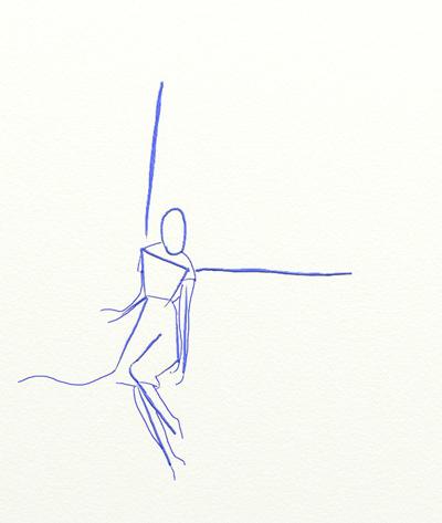 Как нарисовать ангела, шаг 2