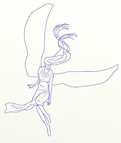 Как нарисовать ангела, шаг 4