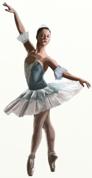 Как нарисовать балерину, шаг 7