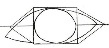 Как нарисовать глаза человека, шаг 4