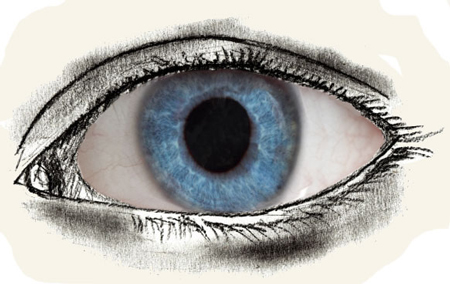 Как нарисовать глаза человека, поэтапно