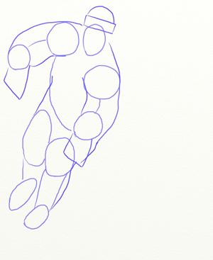 Как нарисовать Хоккеиста, шаг 3