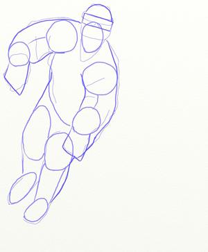 Как нарисовать Хоккеиста, шаг 4