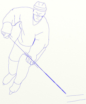 Как нарисовать Хоккеиста, шаг 5