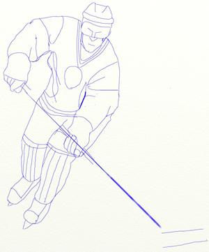 Как нарисовать Хоккеиста, шаг 6