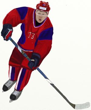 Как нарисовать Хоккеиста, шаг 8