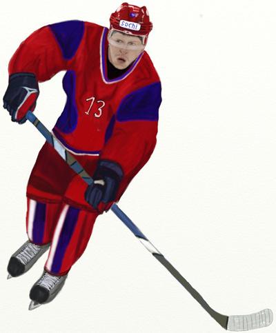 Как нарисовать Хоккеиста поэтапно карандашом