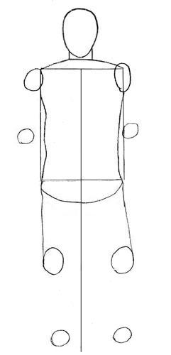 Как нарисовать человека, шаг 3