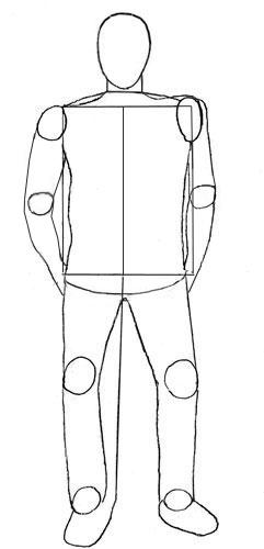 Как нарисовать человека, шаг 4
