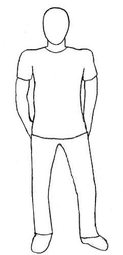 Как нарисовать человека, шаг 5