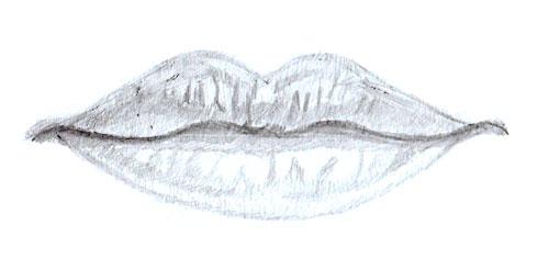как рисовать губы человека Как рисовать Человека