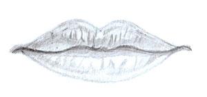 Как рисовать губы человека