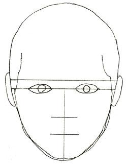 Как нарисовать портрет, шаг 3