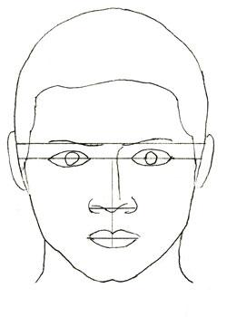 Как нарисовать портрет, шаг 4