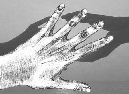 Как нарисовать руку, поэтапно