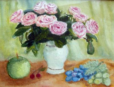Это моя самая первая картина с розами ...: www.lookmi.ru/kak-risovat-rozu.html
