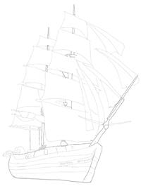 Як намалювати вітрильний Корабель