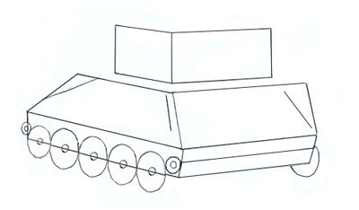 Как нарисовать танк Т-34 шаг 3