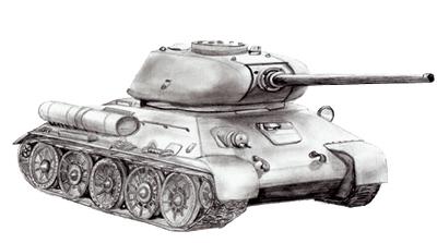 Как нарисовать танк Т-34, шаг 7