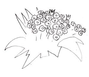 Как рисовать цветы, шаг 3