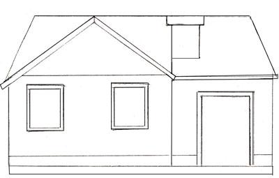 Как нарисовать дом, шаг 4