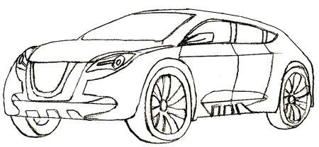 Как нарисовать машину, шаг 5