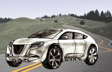 Как нарисовать <strong>машины нарисованные карандашом гелик</strong> машину поэтапно