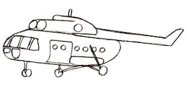 Как нарисовать вертолет, шаг 4