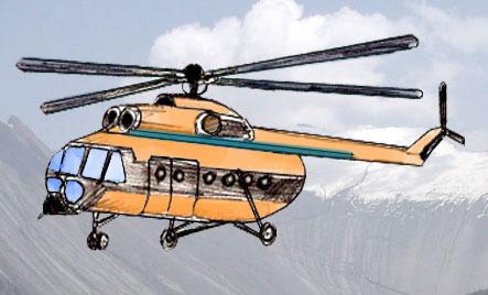 Как нарисовать вертолет поэтапно