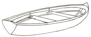 зарисовки лодок судов на воде