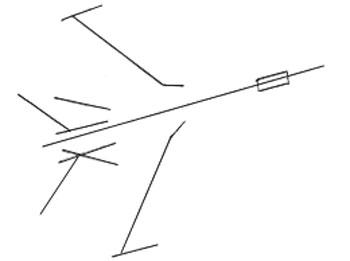Как нарисовать самолет, шаг 1